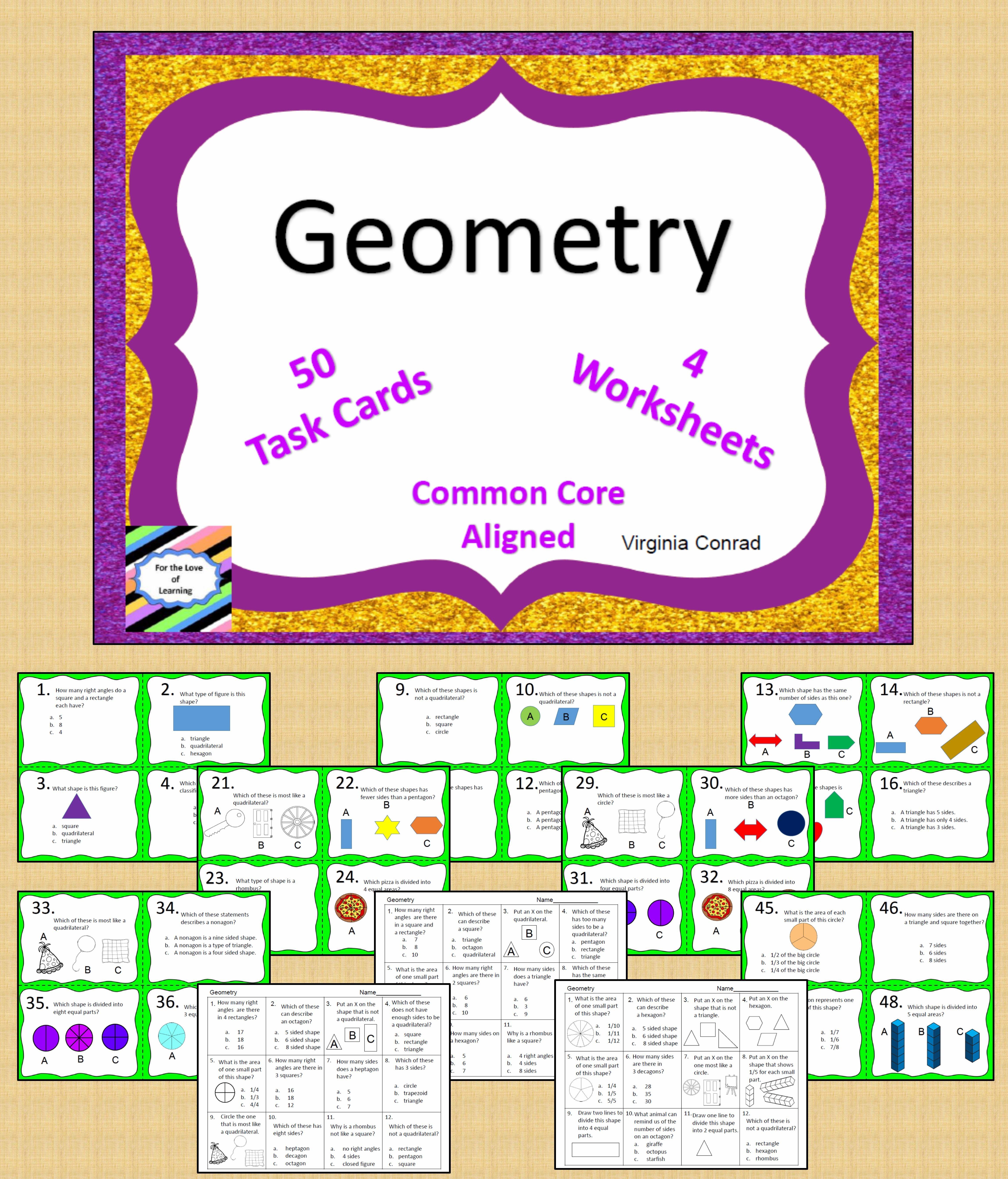 Geometry Common Core Third Grade