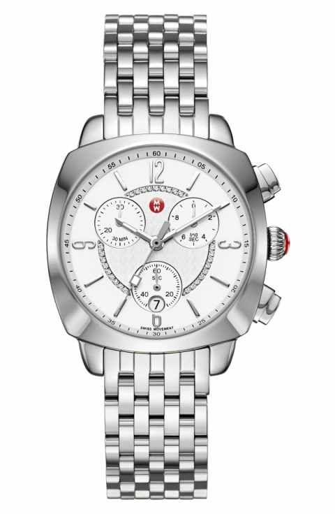 0fe2ea4113a7 MICHELE Ascalon Diamond Dial Chronograph Watch Head   Bracelet