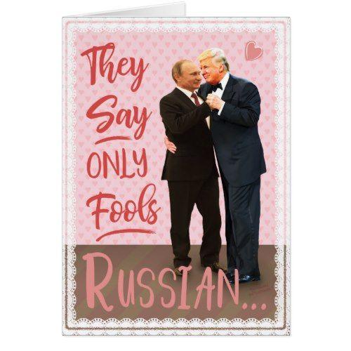 Funny Donald Trump Vladimir Putin Valentine\'s Day Card | Valentine ...