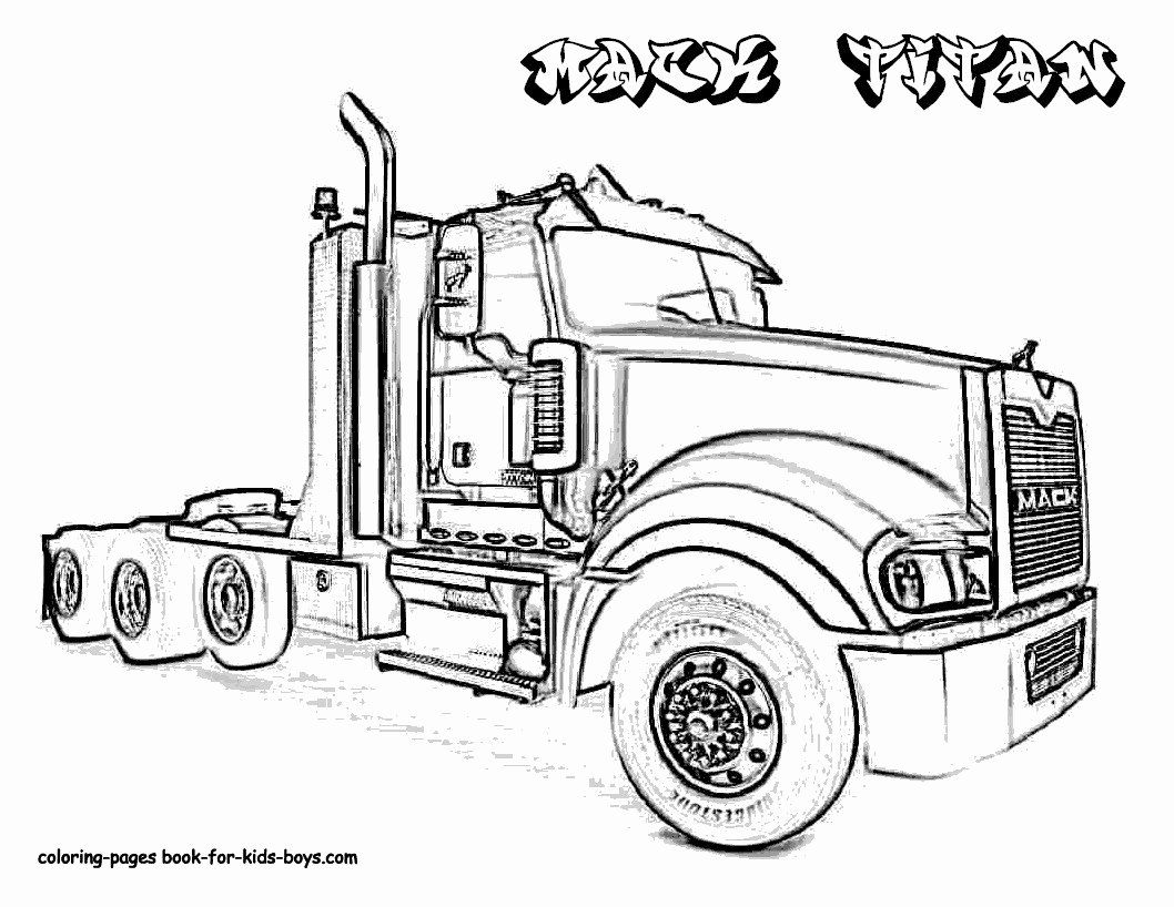 Peterbilt Truck Coloring Pages | Truck coloring pages, Cars ... | 818x1058