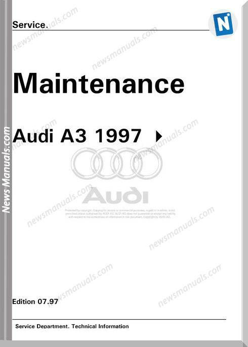 Audi A3 Maintenance Manual