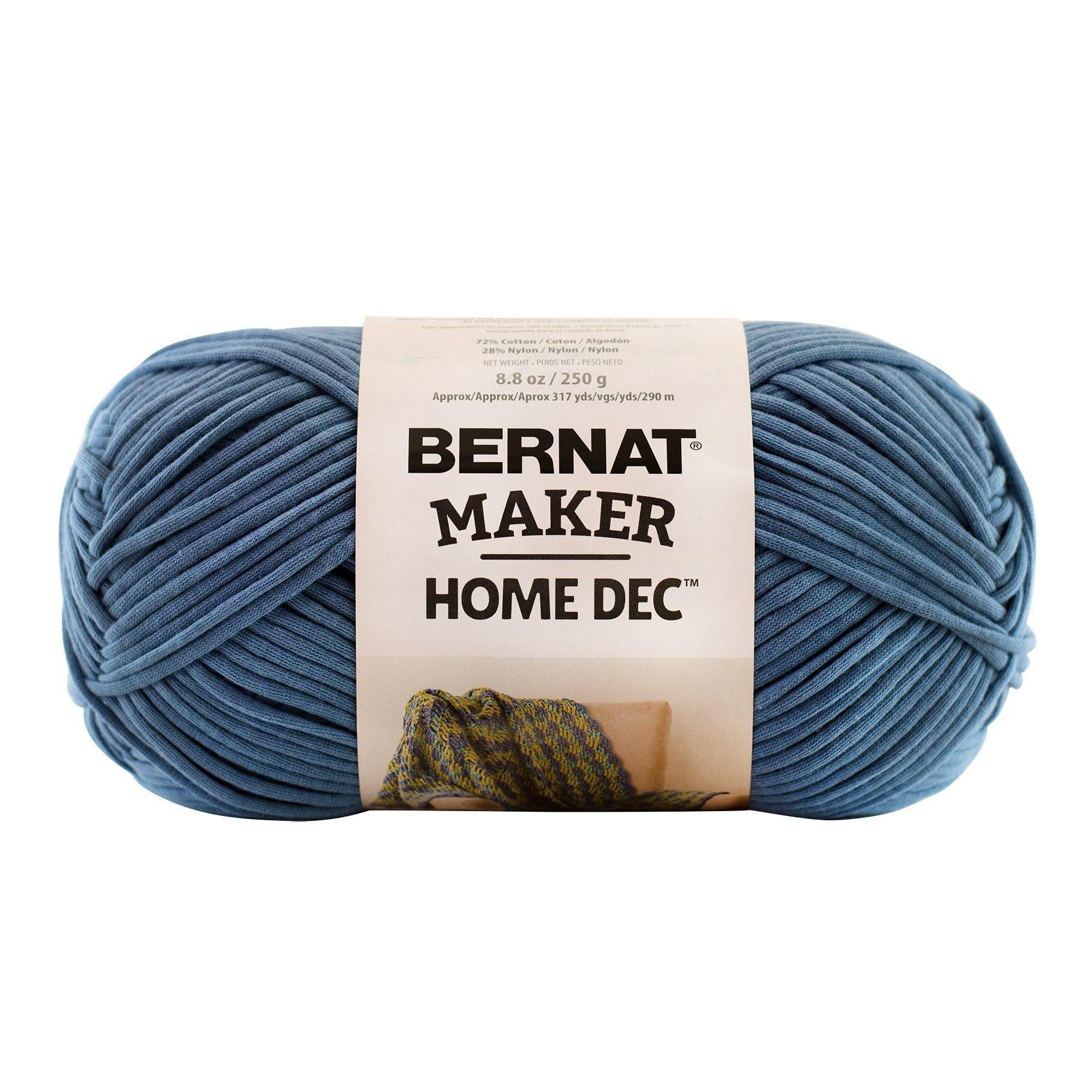 Bernat Maker Home Dec Yarn in Steel Blue | Blue home decor ...