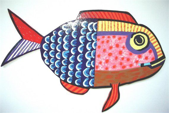 Whimsical school of fish - $95.00 for all 5