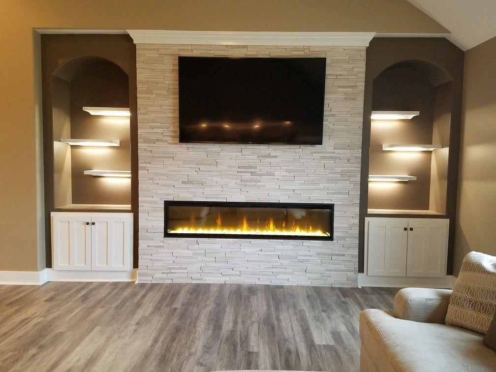 ignitexl 74 linear electric fireplace arctic river designer s rh pinterest com
