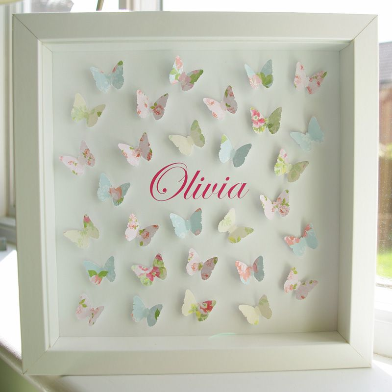 Paper Butterflies Personalised Picture by Molly & Madeleine | Spring ...