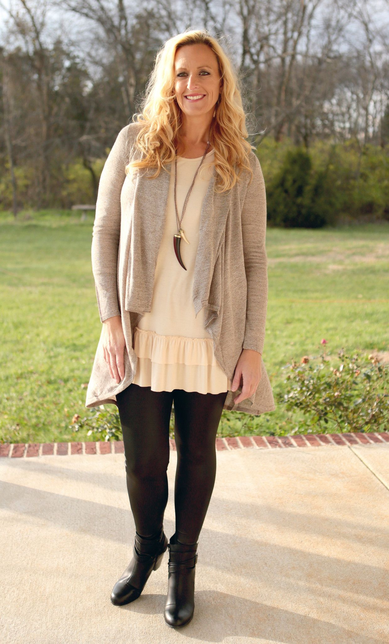 Versatile, cozy and so chic! Our Waterfall Cardigan is a creamy ...