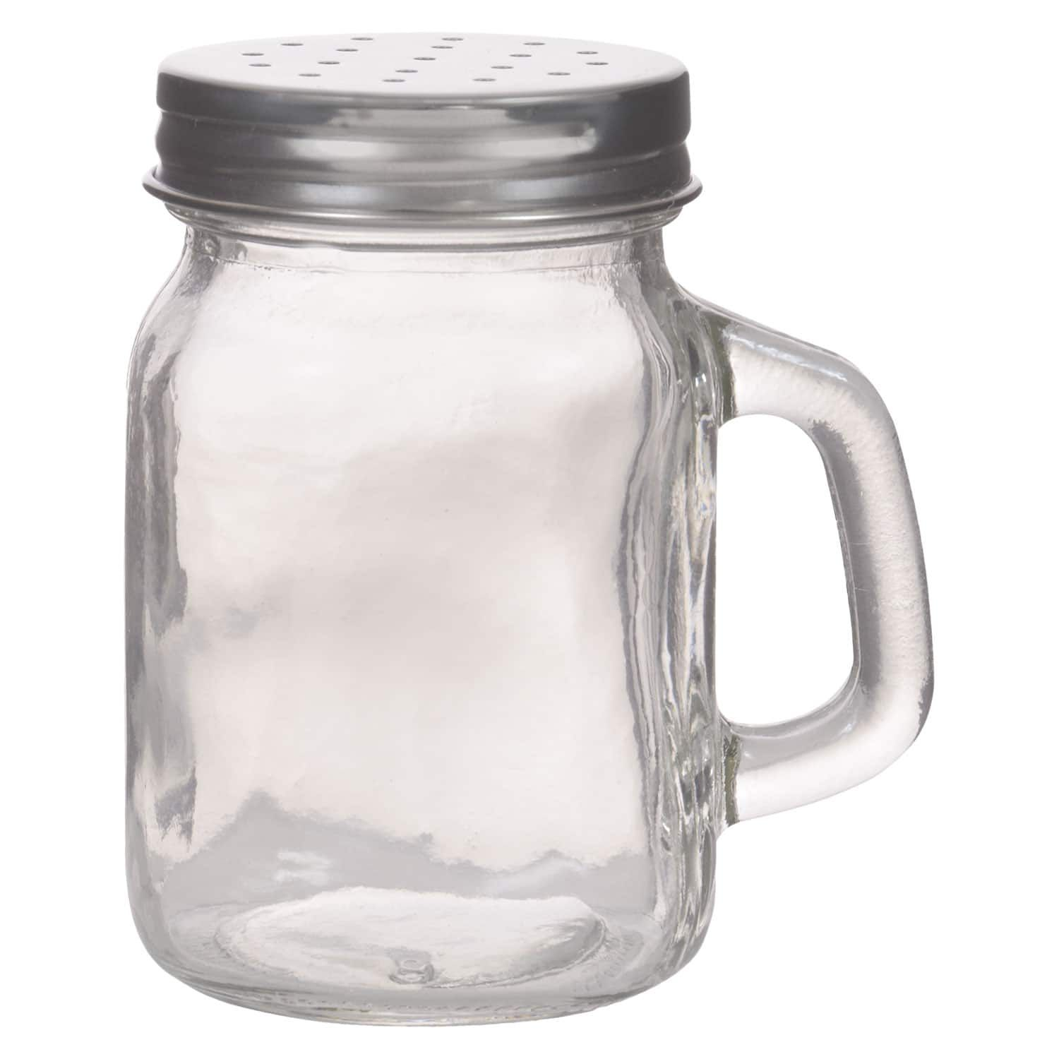 Mini Glass Shaker Jars With Handles And Metal Lids Jar Glass Containers Crafts With Glass Jars