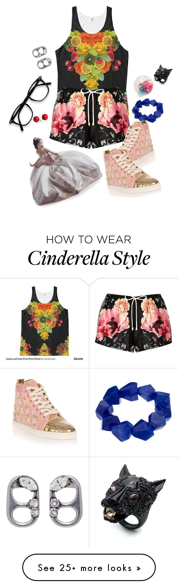 """""""Untitled #4339"""" by prettyroses on Polyvore featuring John Lewis, River Island, Christian Louboutin, Marc Jacobs and Alexis Bittar"""