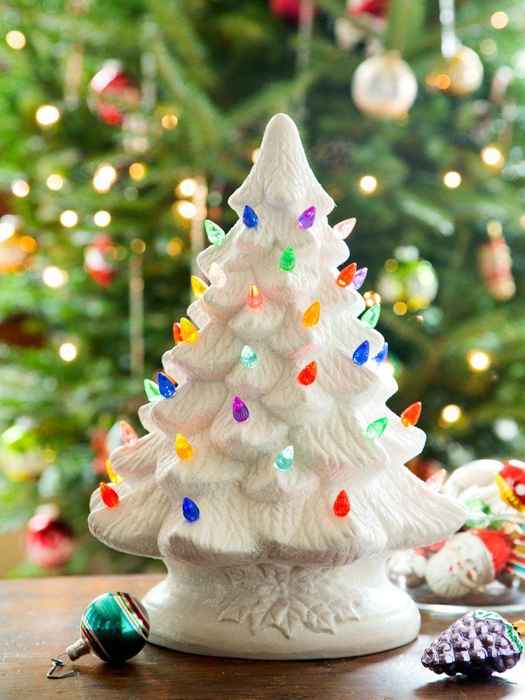 Illuminated Tabletop Ceramic Christmas Tree A Por Tradition For Generations Bulb Inside Illuminates The Tiny Lights Casting Cheerful Glow