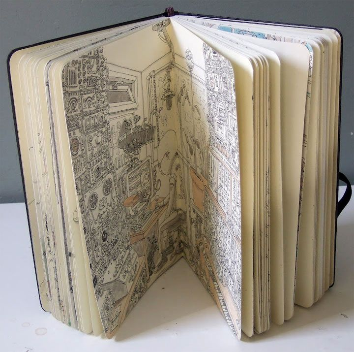 Neue Notizbuchzeichnungen von Mattias Adolfsson