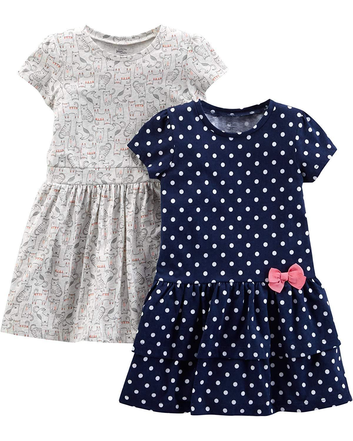 66393846dad18 Simple Joys by Carter's Girls' Baby and Toddler 2-Pack Short-Sleeve and  Sleeveless Dress Sets #postmyfashionkid #parentingmomnts #fashionkids  #parenting ...