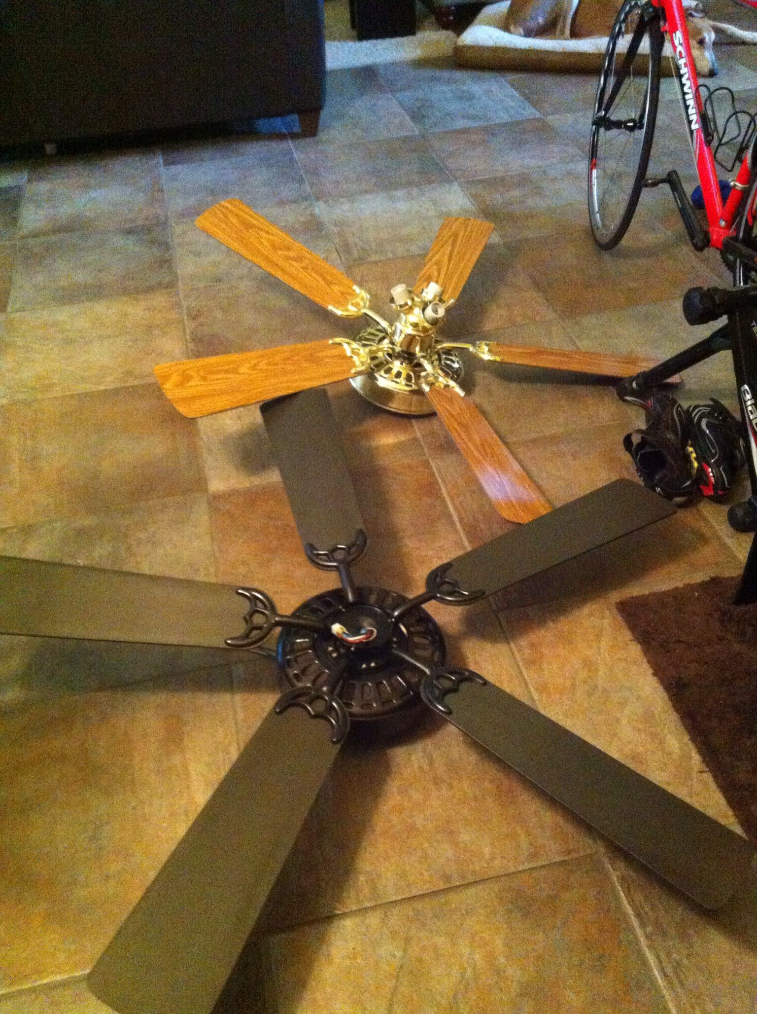 Painted Ceiling Fan For Guest Bedroom Painting Ceiling Fans Ceiling Fan Diy Home Decor