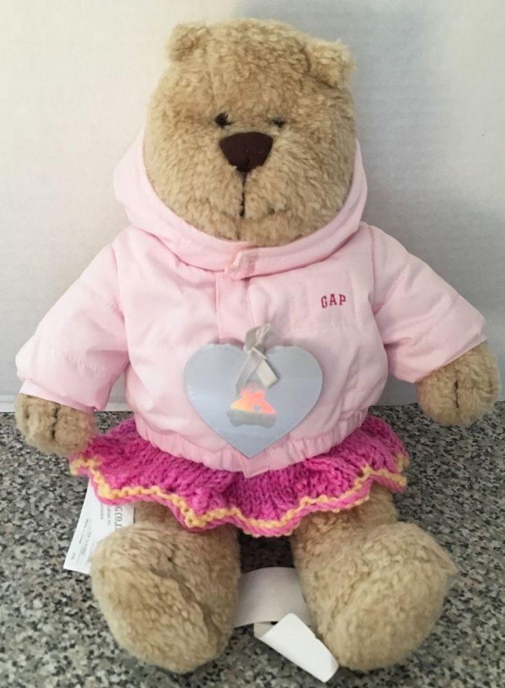 379429f98364 Baby Gap Teddy Bear With Dress Pink Coat Jacket Teddy Bear Face 13 ...
