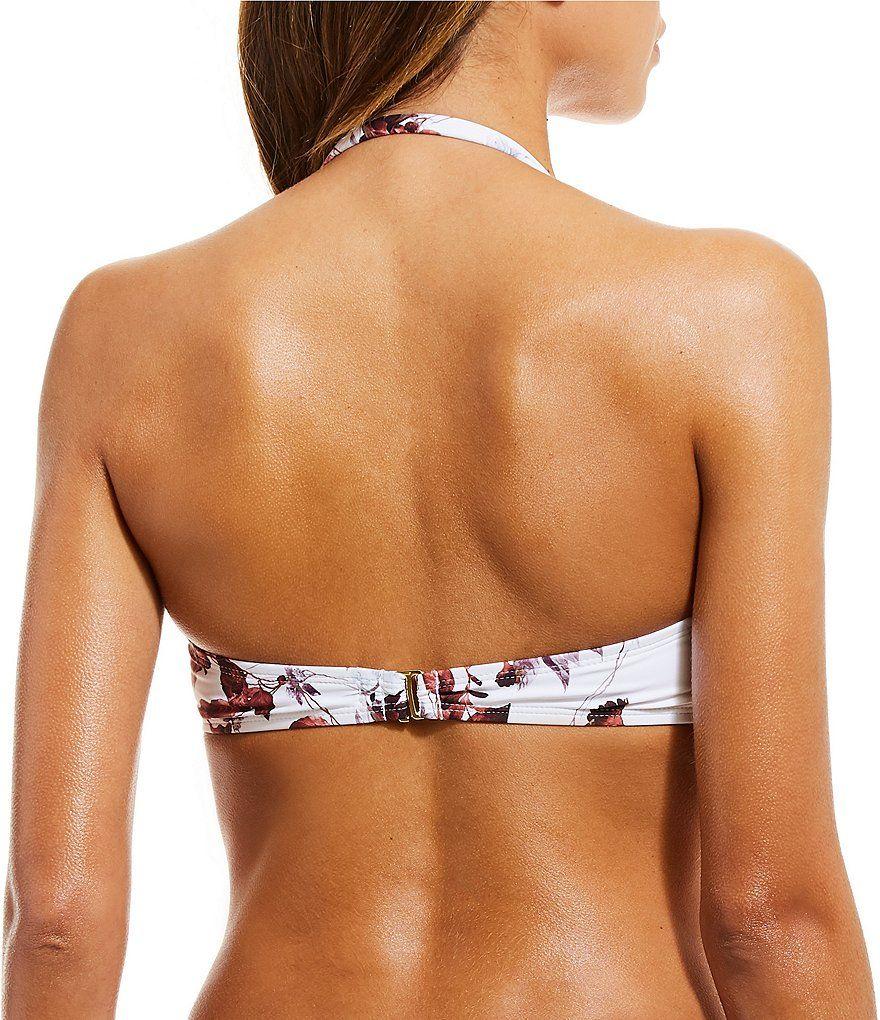 1e2d56140a546 Gianni Bini Nouveaux Botanics Molded Tie Bandeau Bikini Top in 2019 ...