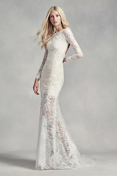 White By Vera Wang Lace And Beads Wedding Dress From Davids Bridal Wedding