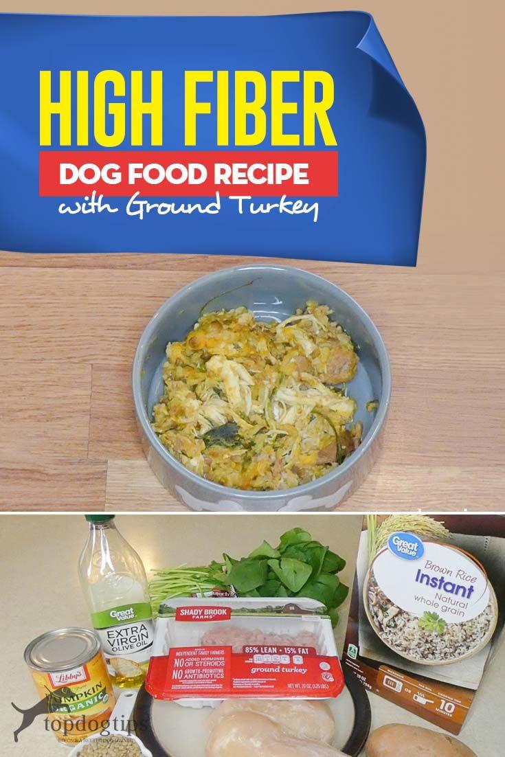 Recipe High Fiber Dog Food Meal with Ground Turkey Dog