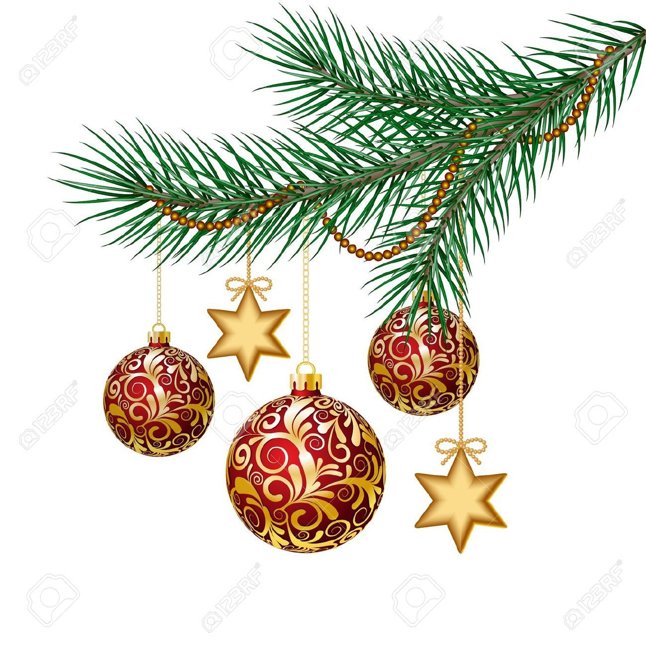 christmas tree branch vector - photo #12