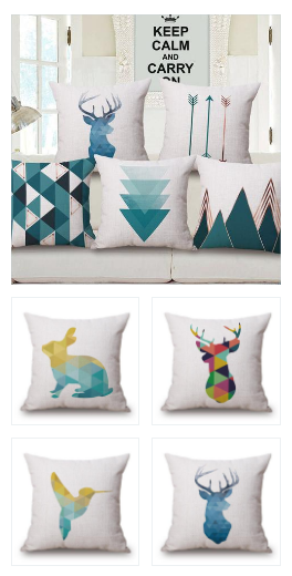 Soft Pink & Blue Cushion Covers is part of Living Room Couch Pillows -  Cotton  Pattern Digital Printed