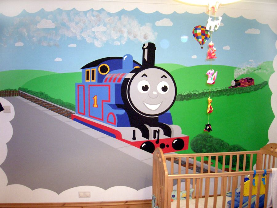 thomas mural Google Search Thomas the tank bedroom ideas