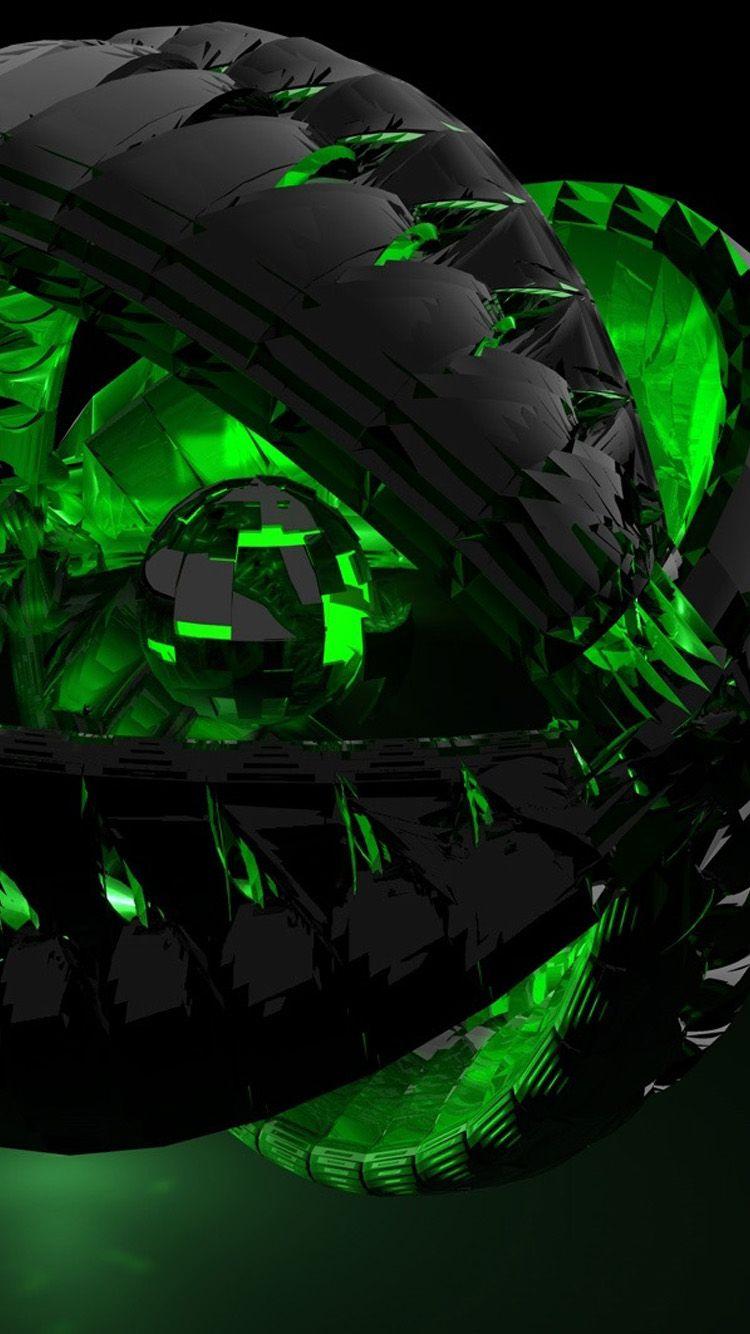 3D Black And Green IPhone 6 Wallpaper   iPhone 6 Wallpapers, 2019   Fond ecran ve Écran