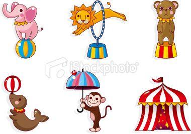 Cartoon Circus Icon Free Vector Art Illustration Cartoon