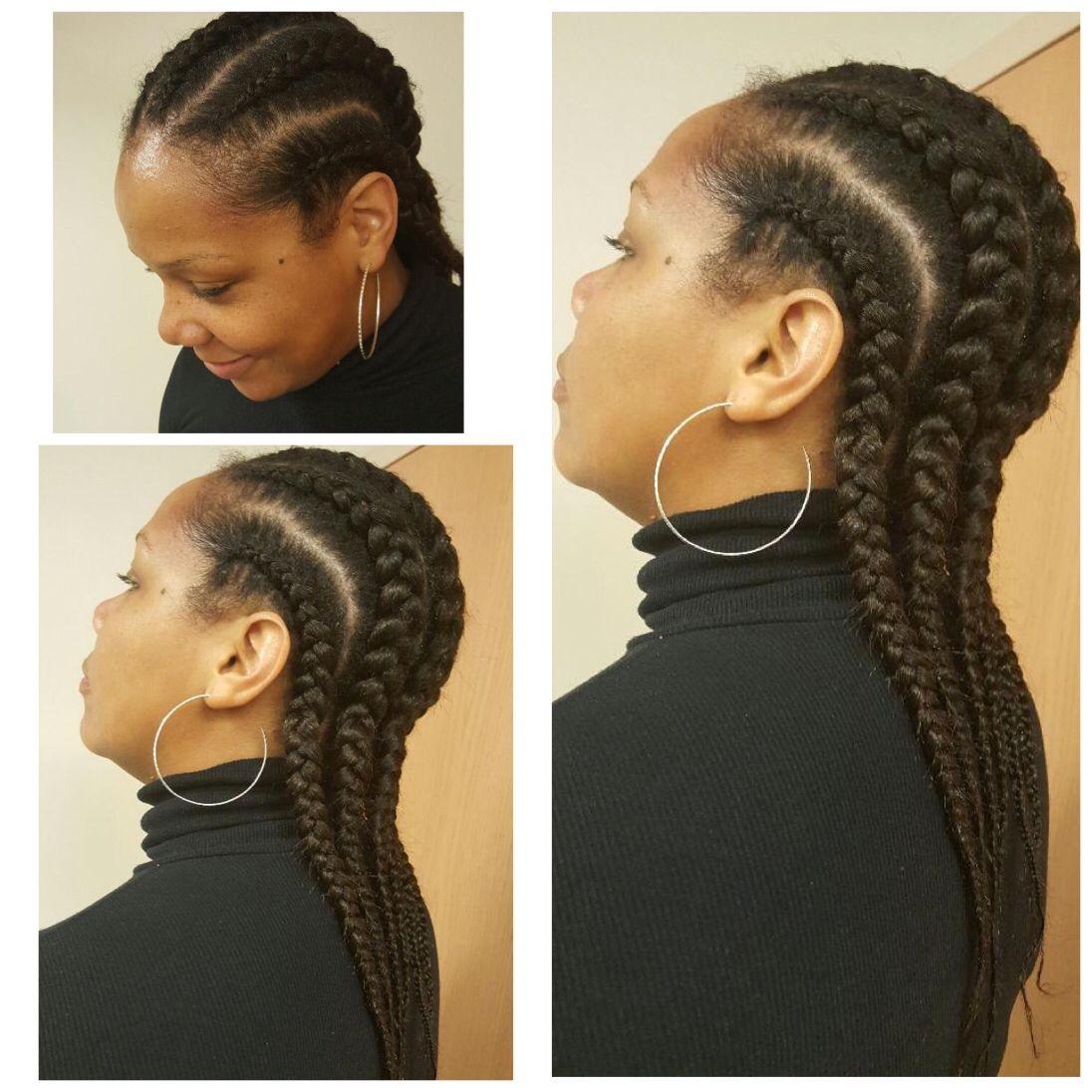 Goddess braids for this hair splendor beauty styled by owner kim