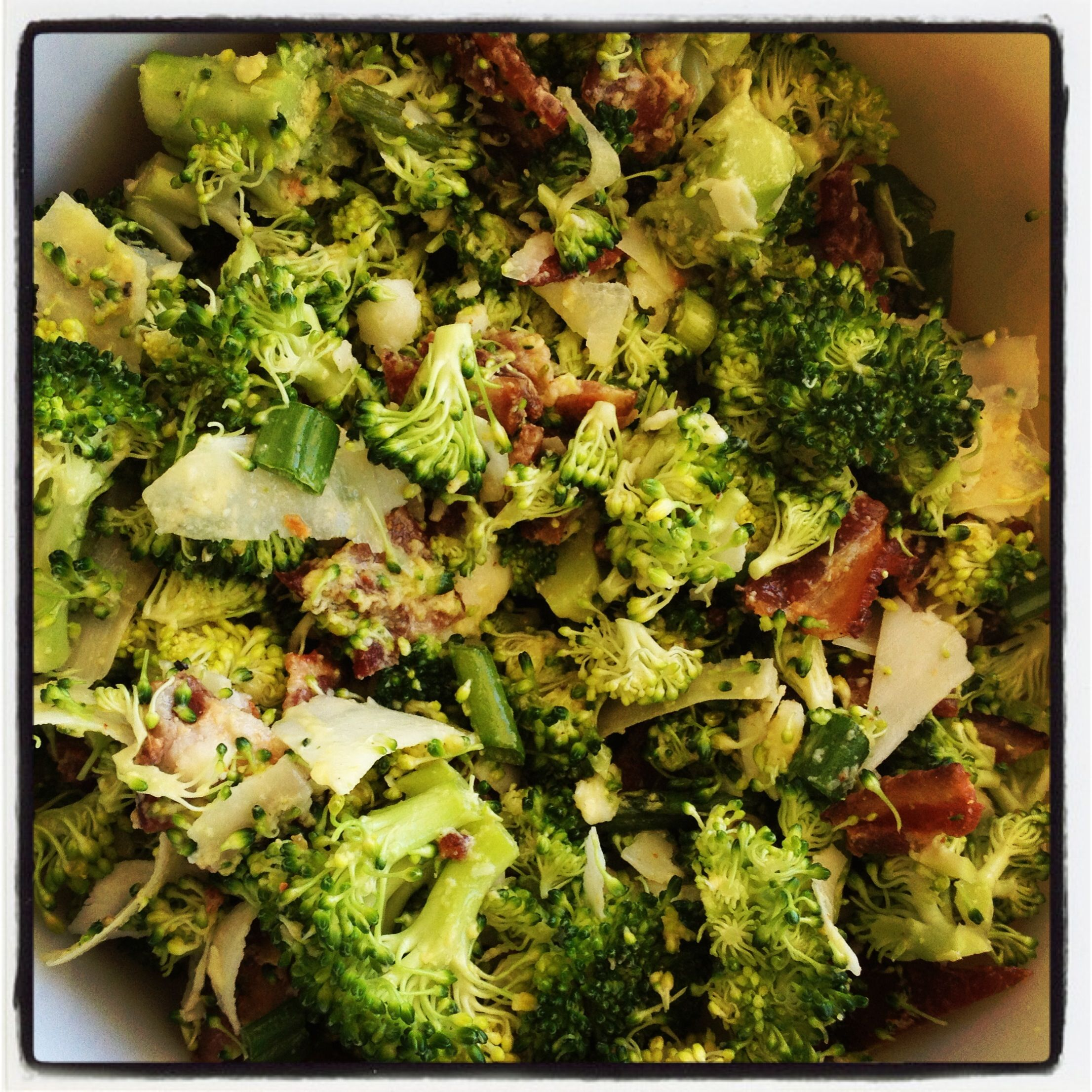 Bacon Broccoli Caesar Salad