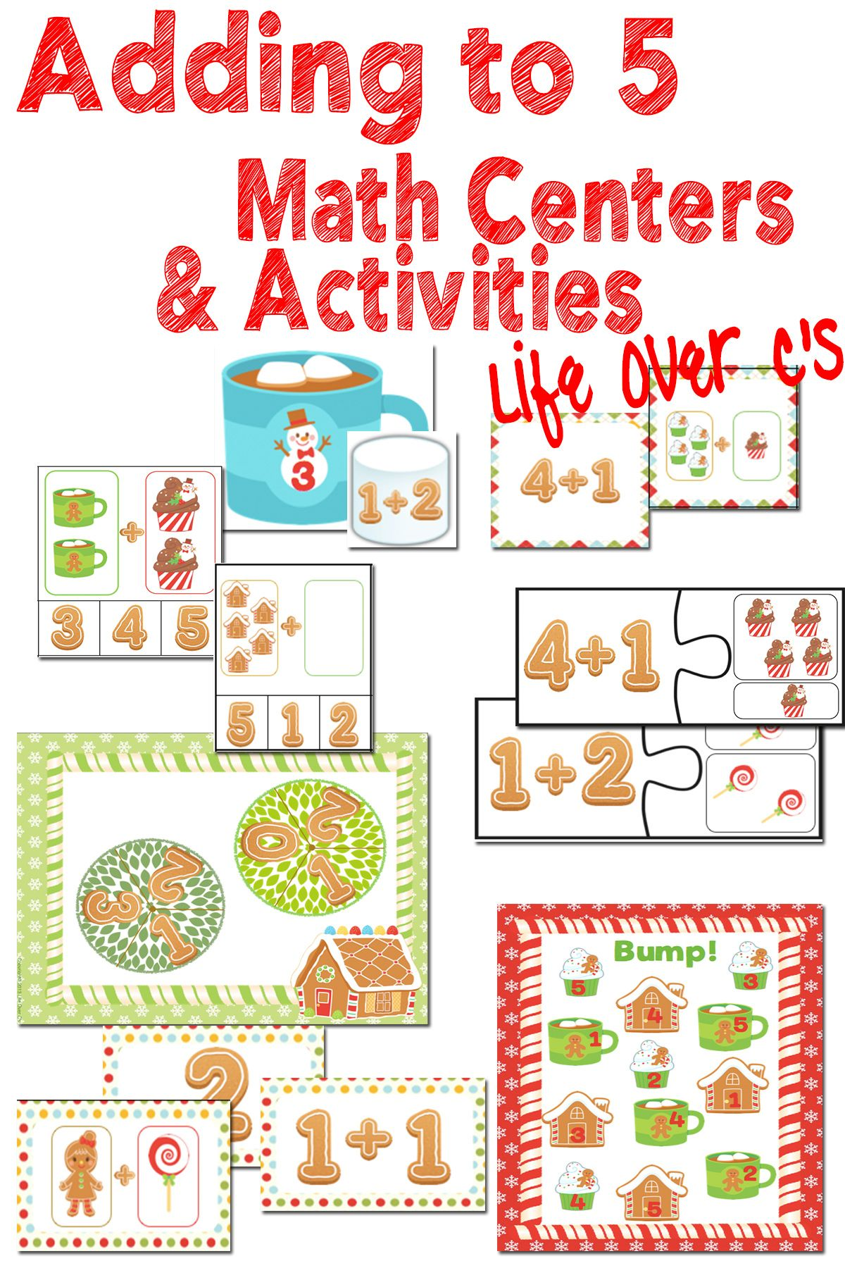 Addition Math Centers Amp Activities Adding Up To 5