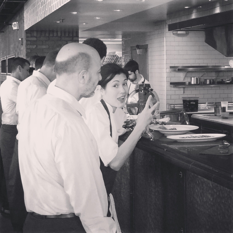 Angela and Steve making sure everything is on point #deuces #sommelier #dessertqueen #angelaisthebest