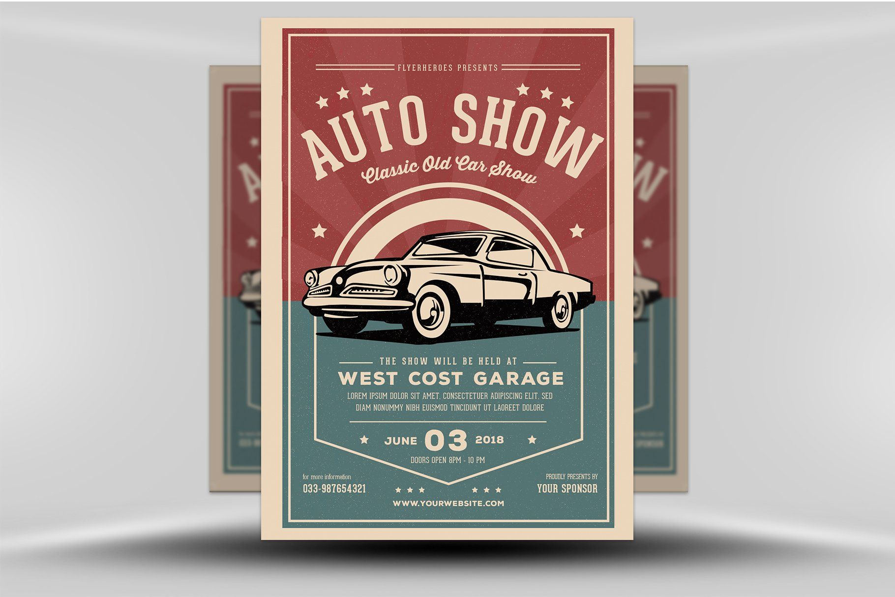 Old Classic Car Show Flyer Template Car#Show#Classic #affiliate