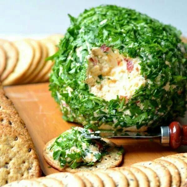 Onion & pepper cheeseball