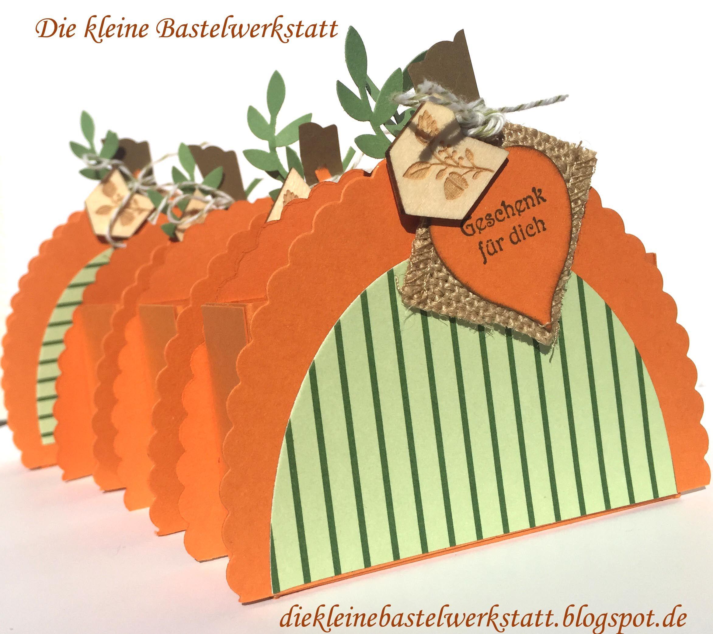 Stampin up Goodies Kürbis Blätter Herbst Verpackung