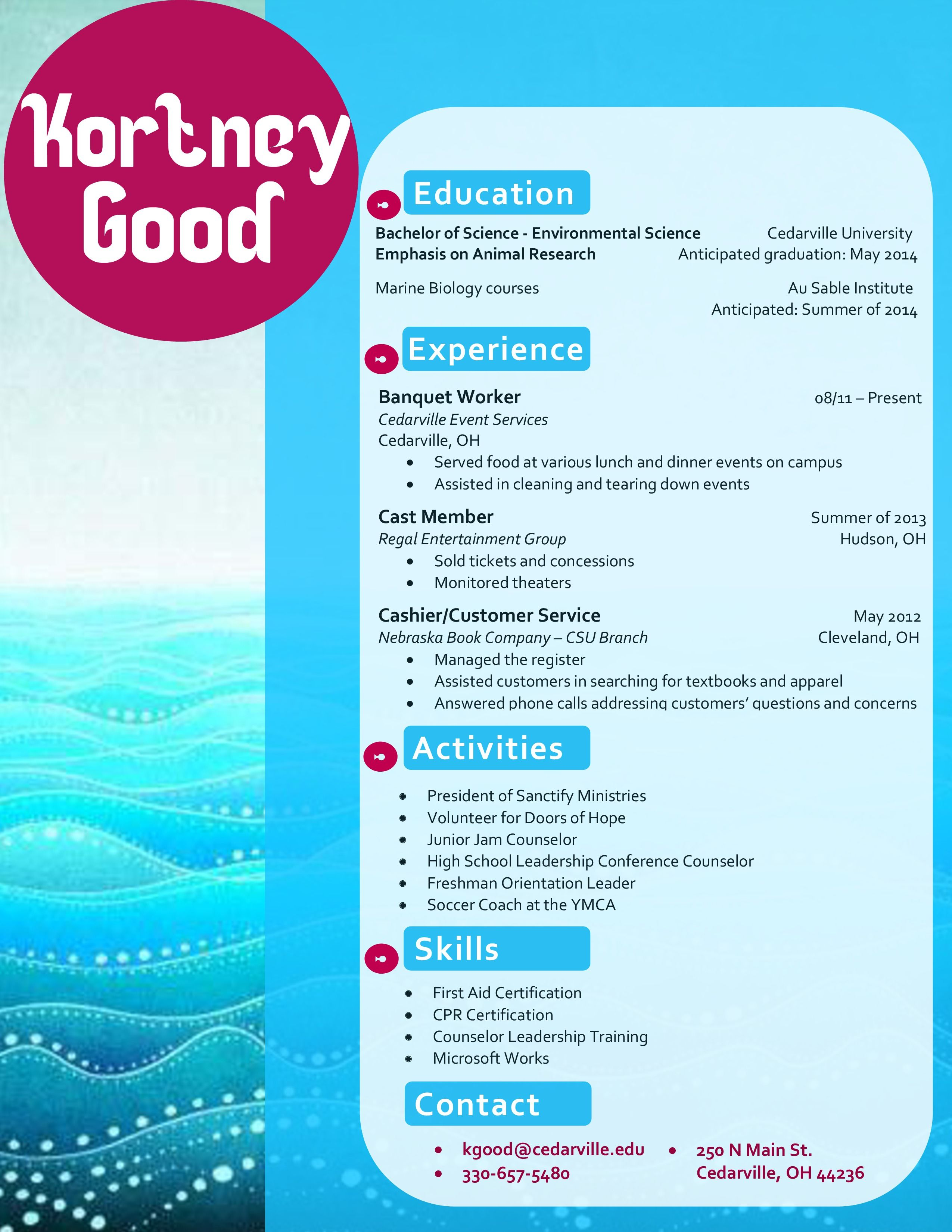 my design for a marine biology resume  buy the template for just  15