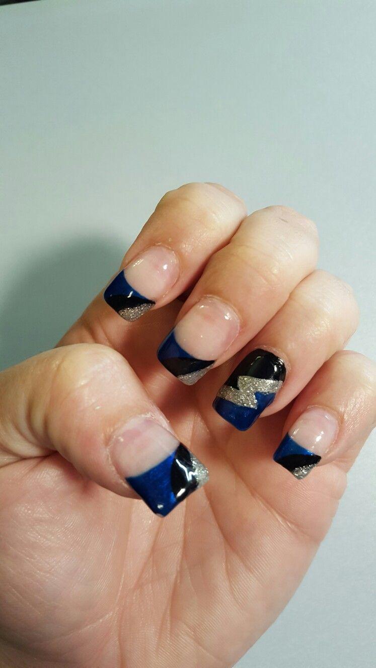 Tampa bay lightning nail art   Nails by Lindsey!!   Pinterest