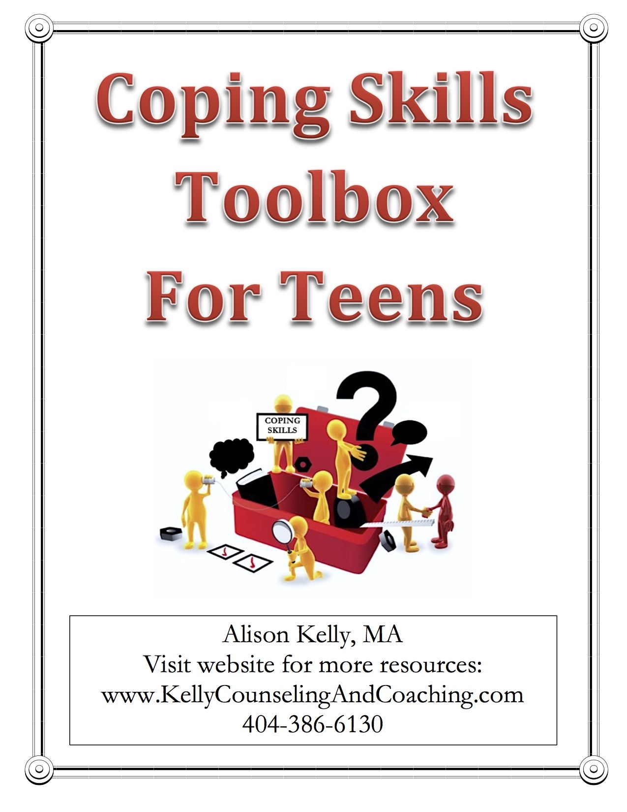 Download A Free Copy Of The Coping Skills Toolbox And