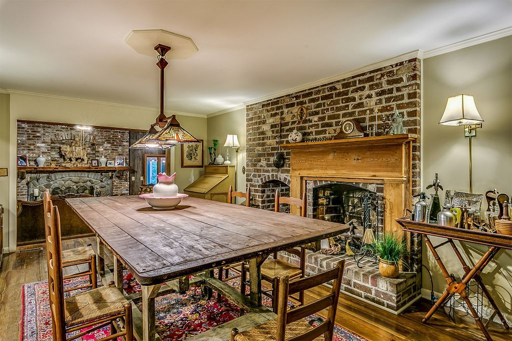 Room Love Brick Fireplace In Kitchen Or Dining