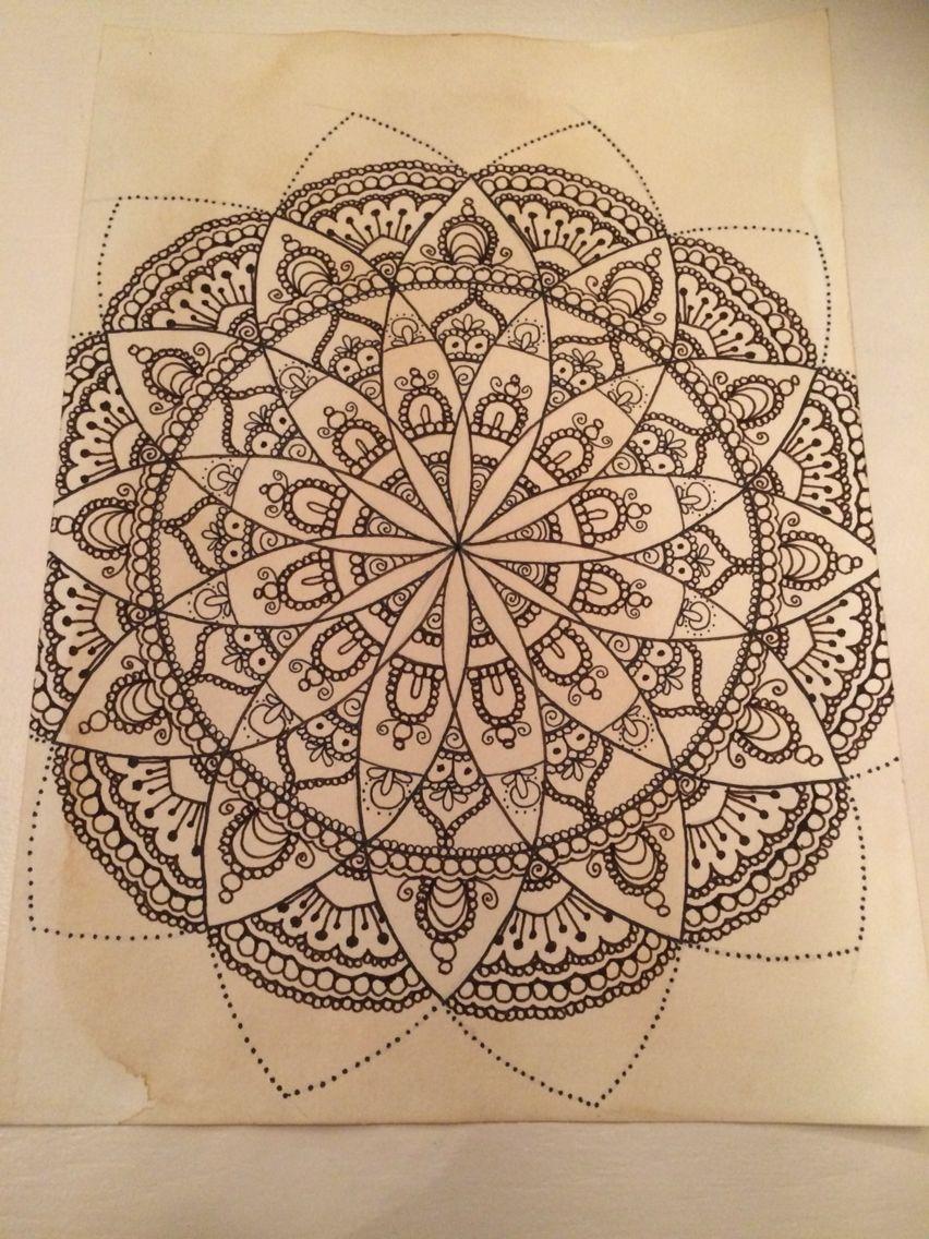 Zentangle Zendoodle Mandala Mandala Design Mandala
