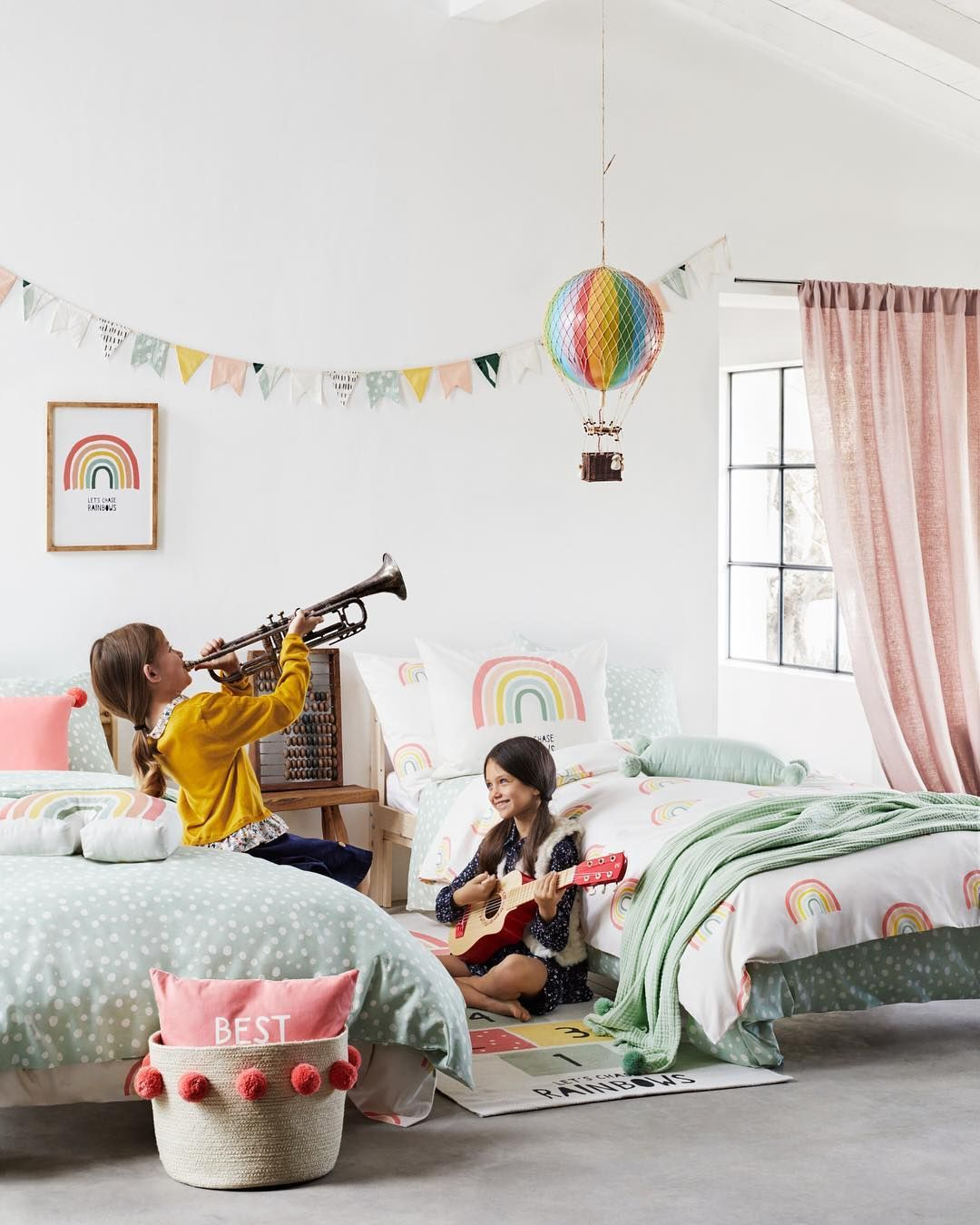 "H&M Home on Instagram: ""The best way to add colour to your kids' room? Fill it with enchanting rainbows! 🌈 #HM… 