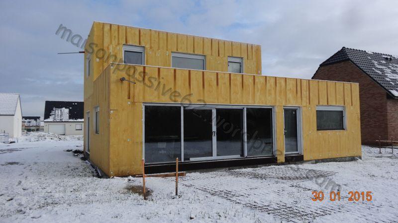 neige janv 2015 - Construction du0027une maison passive avec le système