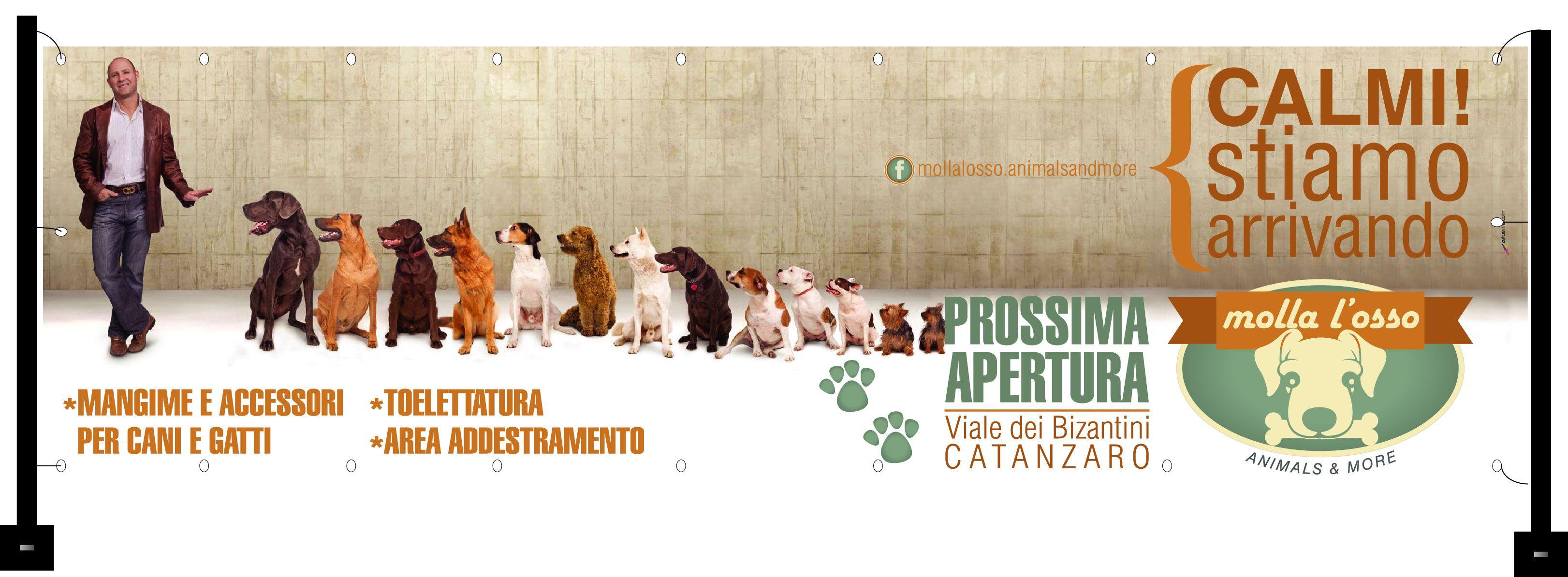 Banner pubblicitario in pvc  #mollalosso #nuova apertura