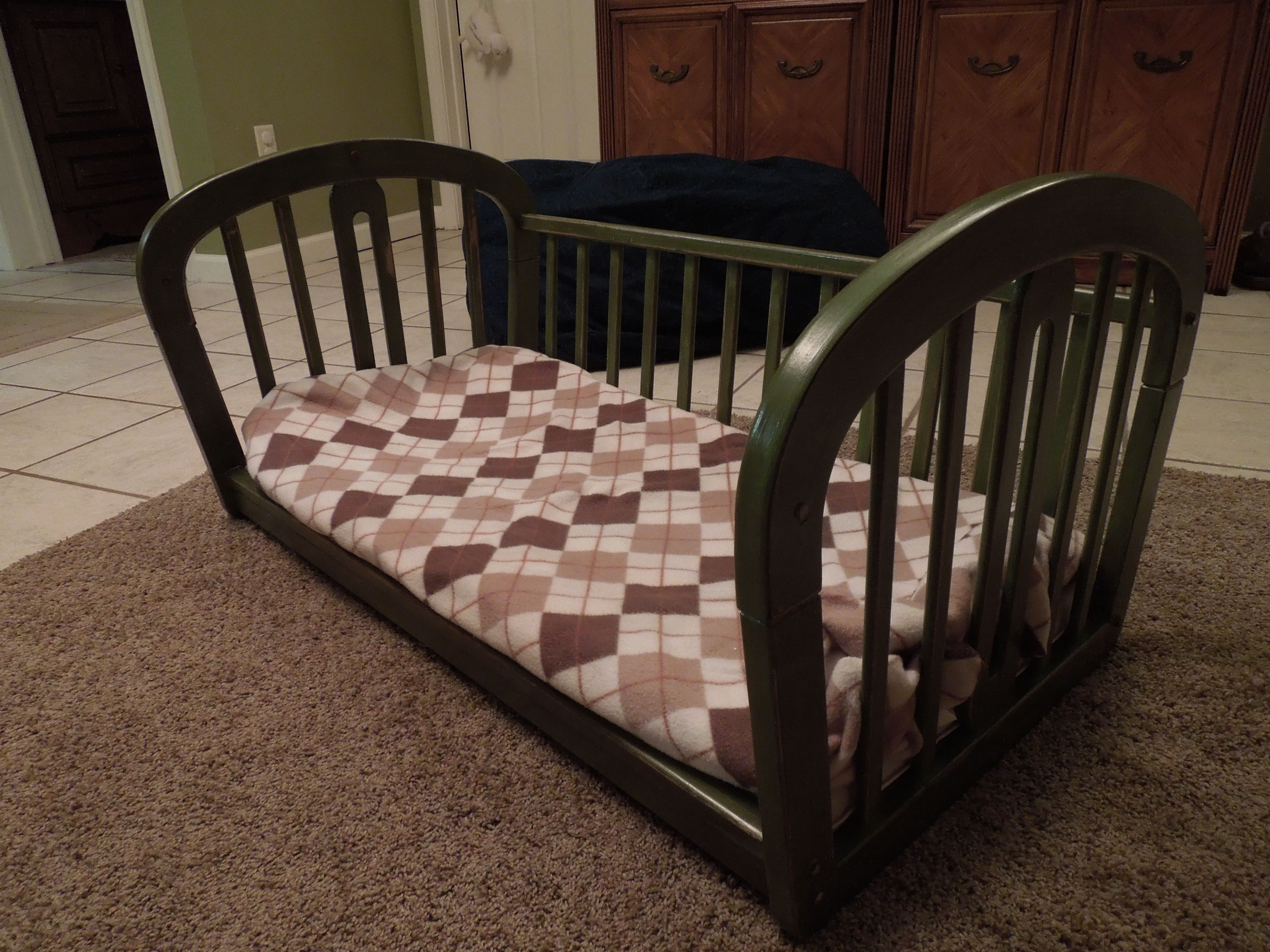 Upcycled baby to pet bed Baby