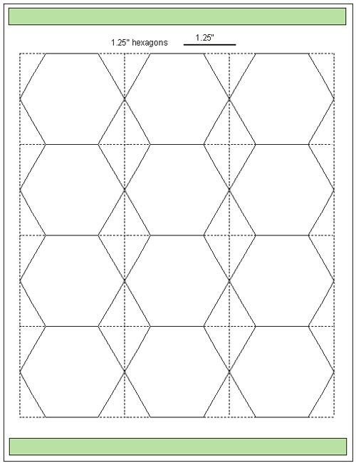 Download hexagon templates in various sizes hexagon for Hexagon quilt template plastic