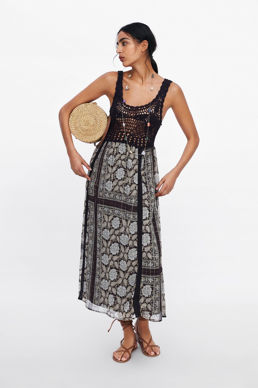 405274f5 PRINTED METALLIC THREAD DRESS - NEW IN-WOMAN | ZARA United Kingdom