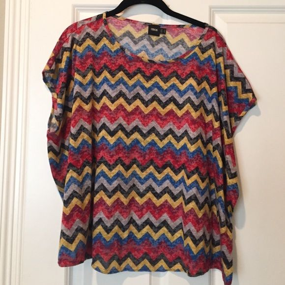 Adorable Asos top! Very cute chevron top. Super comfortable and can be dressed up or down! ASOS Tops Tees - Short Sleeve