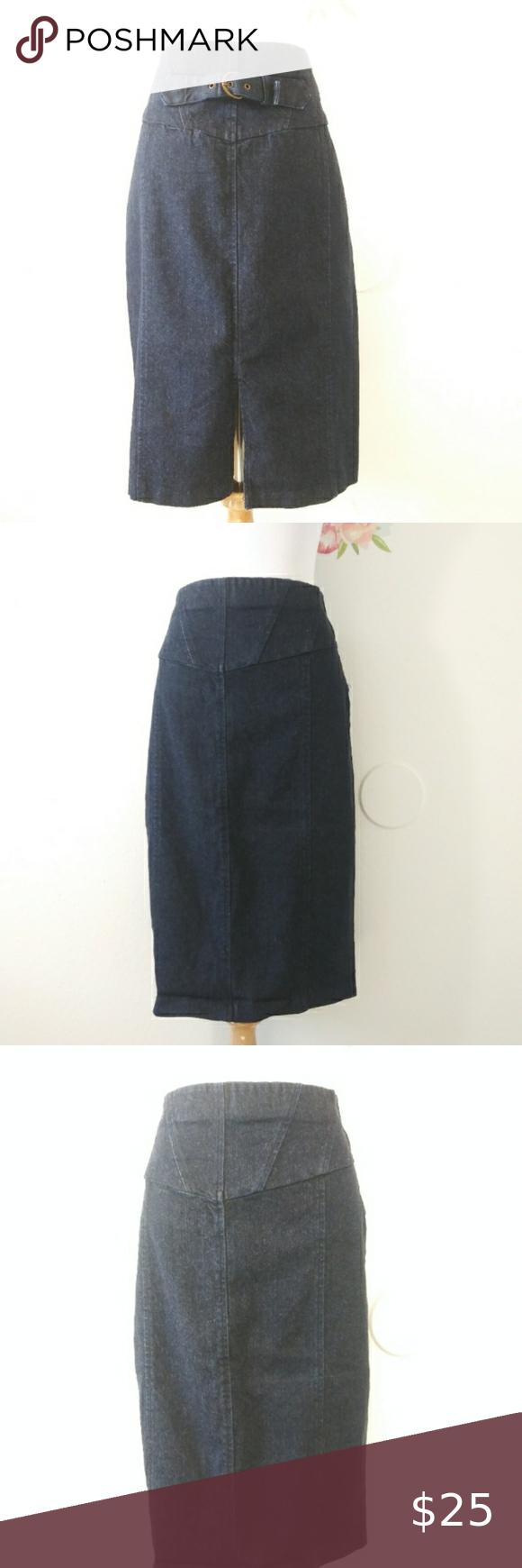 M/&S CLASSIC Textured A-Line Midi Skirt ~ Length 68-9cm ~ Navy
