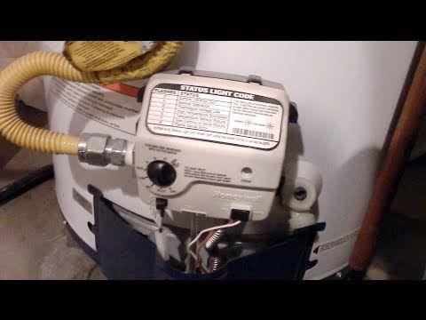 How To Light A Honeywell Water Heater Pilot Youtube Water Heater Heater Reset Button