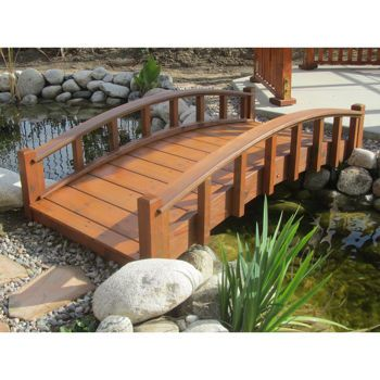 Gardens Wood Garden Bridges With Arched Railings