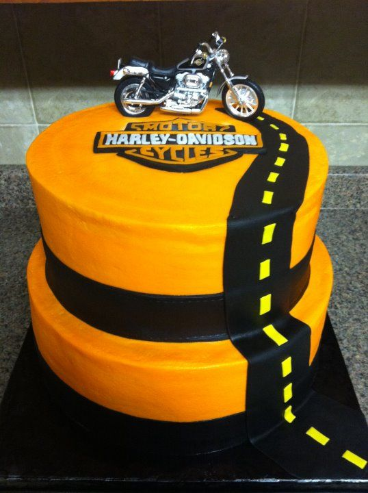 Super cool Motorcycle sports bike birthday cake Race motorcycle