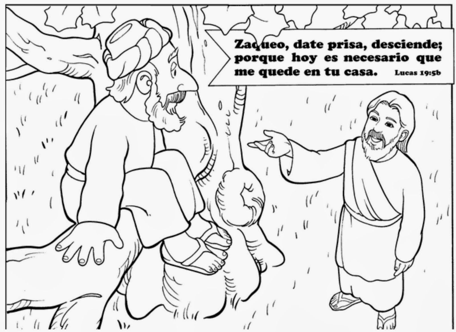 Coloring pages zacchaeus - Dibujo Para Pintar Sobre Zaqueo Zacchaeusbible Lessonssunday Schoolministrycoloring Pagescleverbible