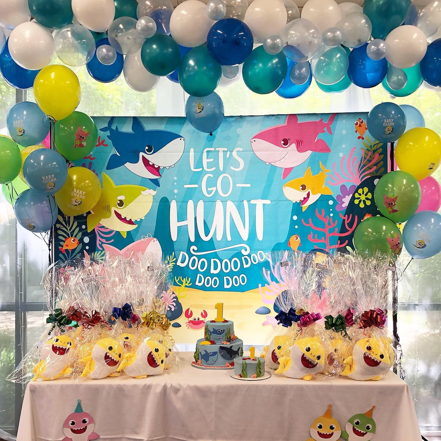 Get Ideas For Your Baby Shark Themed Party Here Bubble Balloons Balloon Garland Baby Sha Shark Birthday Party Shark Themed Birthday Party Shark Themed Party